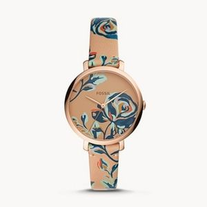 🌼 Fossil floral leather watch
